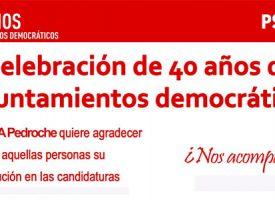 De homenaje tras 40 años de ayuntamientos democráticos