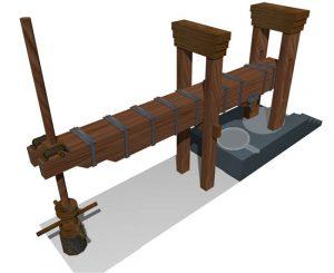 Modelo de prensa de viga (Fuente: puente‐genil.es)